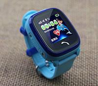 Детские Водонепроницаемые часы с gps Q300S (Q100 aqua) голубые