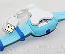 Дитячий Водонепроникний годинники з gps Q300S (Q100 aqua) блакитний, фото 4