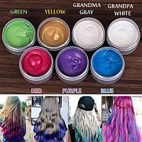 Окрашивающий цветной воск для волос разные цвета