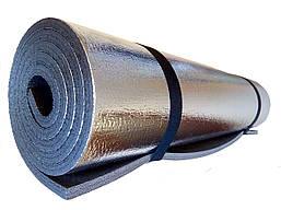 Каремат фольгированный для похода и туризма коврик туристический походный с фольгой двухслойный 12 мм,180х60см