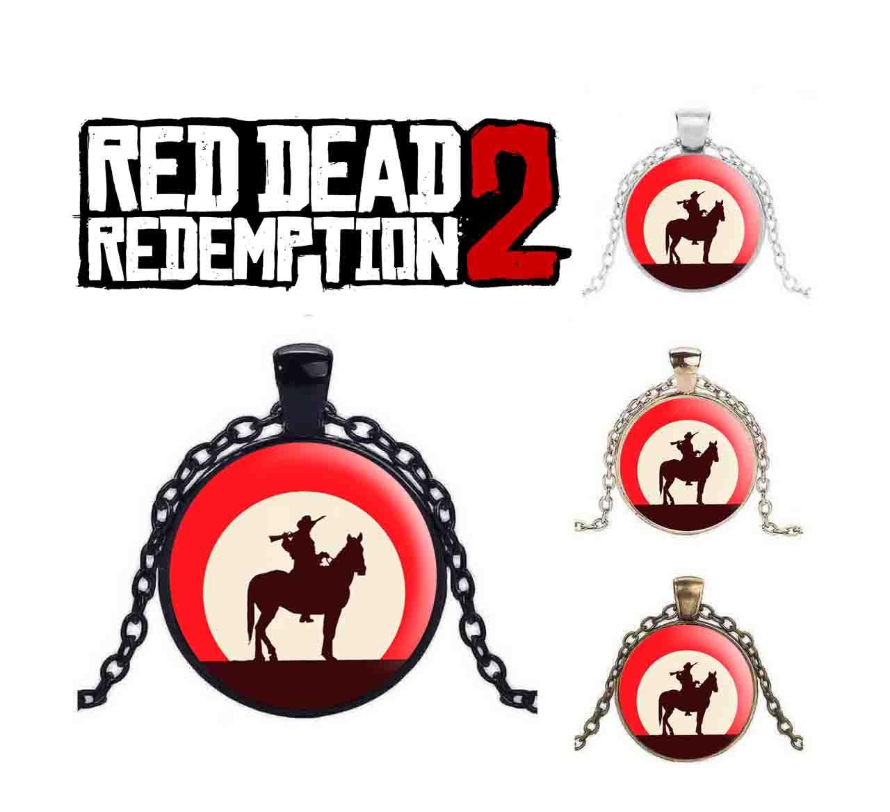 Кулон Red Dead Redemption 2 с героем на лошади