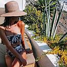 Раздельный купальник лиф с воланом трусики с высокой талией, фото 4