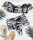 Раздельный купальник лиф с воланом трусики с высокой талией, фото 6