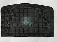 Коврик придверный резиновый WELCOME прямоугольный 40*60 см, фото 1