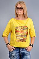 Женская футболка из хлопкового трикотажа