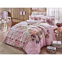 Постельное белье Tac ранфорс - Livia pembe розовый полуторное