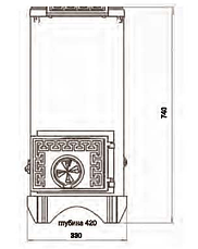 Чугунная буржуйка DUVAL EM 310 ERENDEMIR, фото 3