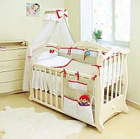 Детская постель Twins Premium P-021 Starlet беж (8 элементов) + БЕСПЛАТНАЯ ДОСТАВКА