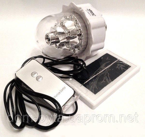 Лампа-фонарь Yajia YJ-1886 TY со встроенным аккумулятором и соленчной батареей