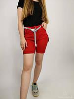 Женские шорты с поясом и подворотом, разнообразие расцветок, размеры S, M, L, XL, 2XL, Италия