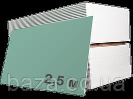 Гіпсокартон вологостійкий Knauf 2500х1200х12,5 мм