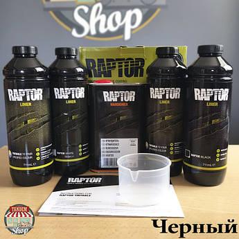 Защитное покрытие повышенной прочности (краска) U-POL RAPTOR™, 4 л Комплект Черный