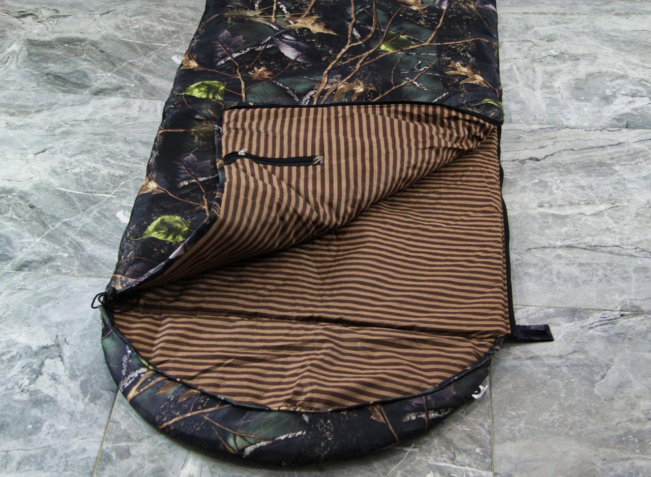 Туристический спальный мешок (до -4) спальник+компрессионник для похода весна и осень