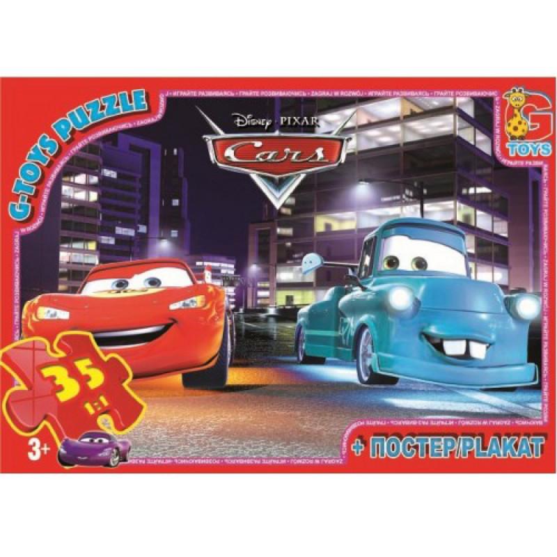 """Пазли із серії """"Тачки"""", 35 елементів Z10210 ТМ """"G-Toys"""""""