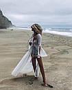 Длинная льняная туника с открытой спиной на завязке, фото 2