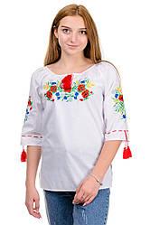 Сорочка вышиванка Маки, 44 - 48 размеры