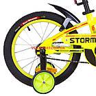 Детский велосипед Formula Stormer 16 дюймов желтый, фото 6