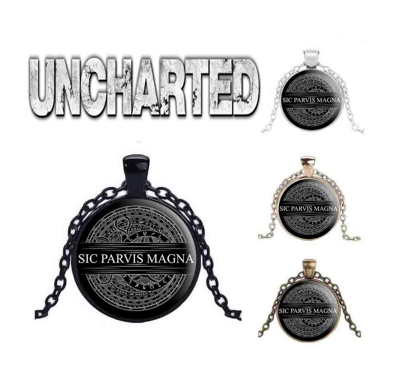 Подвеска Uncharted  Sic Parvis Magna