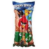 Матрас Bestway 96104 119х61 см Angry Birds. Матрас отлично подходит для отдыха на природе, моря, дома