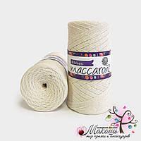 Пряжа Maccaroni Ribbon с глитером, 143, пломбир