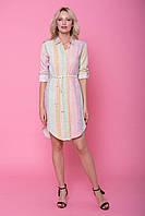 Легкое летнее платье из хлопка акварельной окраски