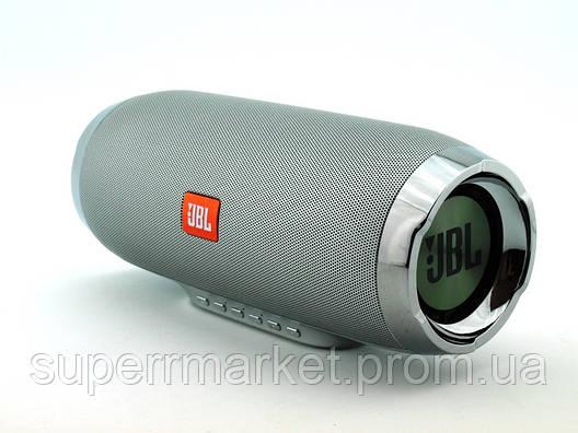 JBL Charge 4+ E4plus 20W копия, колонка с FM MP3, серебрянная, фото 2