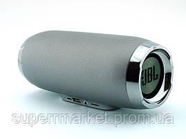 JBL Charge 4+ E4plus 20W копия, колонка с FM MP3, серебрянная, фото 3