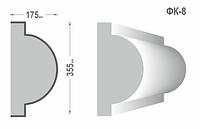 Фасадный карниз Фк-8 355х175