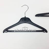 Пластмассовые детские плечики вешалки тремпеля для одежды W-DY30 черного цвета, длина 300 мм