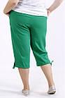 Зеленые легкие капри большого размера 42-74  b060-4, фото 4