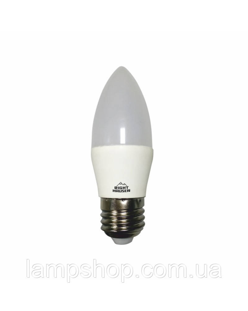 Лампа RIGHT HAUSEN LED Soft line СВЕЧА 6W Е27 4000K HN-254040