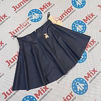 Школьные  детские юбки из кожзама  для девочек оптом  Bolbina