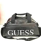 Сумки универсальные кожвинил Guess (серебро)24*46см, фото 2