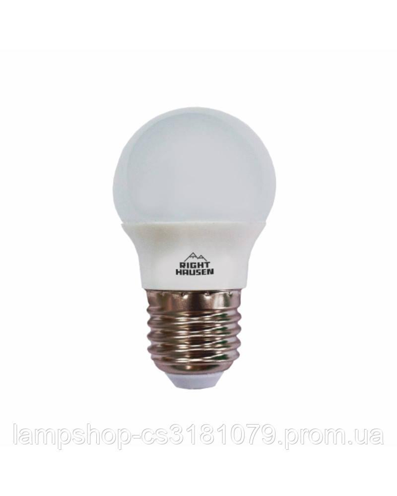 Лампа RIGHT HAUSEN LED Soft line ШАР 6W Е27 4000K HN-255040