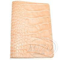 Кожаная обложка для паспорта «Крокодил»