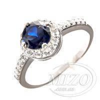 Кольцо с синим сапфиром 10138