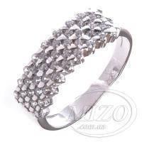 Кольцо серебряное с россыпью камней 10133