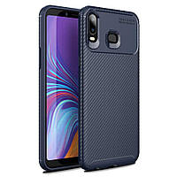 Чехол Carbon Case Samsung Galaxy A6s Синий
