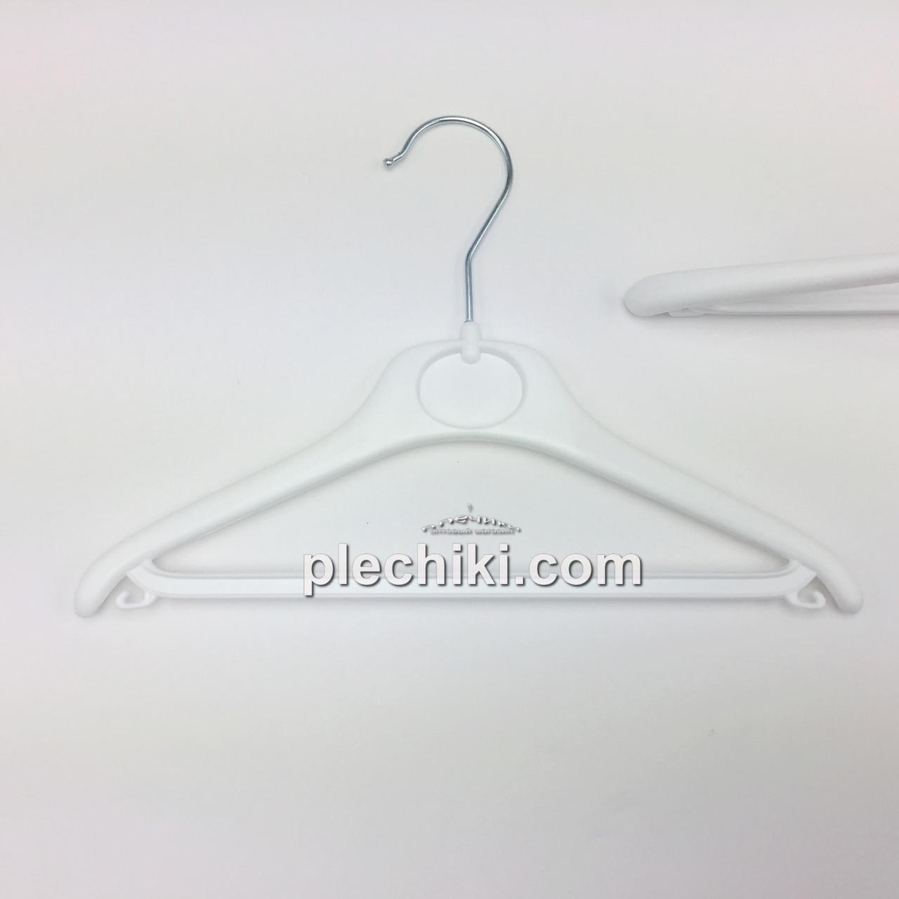 Детские тремпеля для одежды пластиковые W-DY30 белого цвета, длина 300 мм