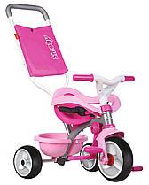 Велосипед детский Би Муви металлический с багажником сумкой-конвертом розовые Be Move Confort Smoby