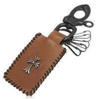 Ключница с кожаной мини-сумочкой и крестом KNL181, KNL182