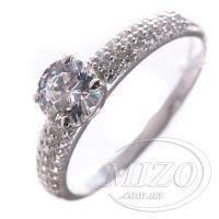 Кольцо серебряное с фианитом 10086