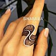 Эксклюзивное серебряное кольцо с коньячными фианитами - Брендовое серебряное Коктейльное кольцо, фото 2