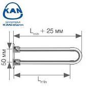 KAN-therm отвод спаренный Push с трубкой Cu d15 с кронштейном 14х2,0 мм Lmin=300 мм, 9015.250