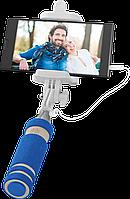 Компактный держатель, селфи, монопод для смартфона, фотокамеры или экшнкамеры, синий, 14-52 см