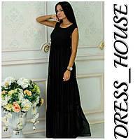 """Платье женское, стильное, летнее """"Крестьянка"""", черное, 913-102, фото 1"""
