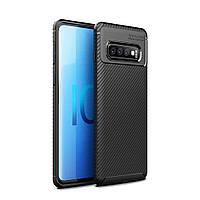Чехол Carbon Case Samsung G970 Galaxy S10e Черный