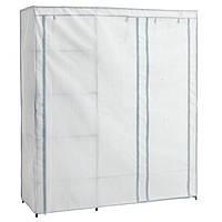 Большой сборный тканевый шкаф DAMHUS 149х50х174 серый, фото 1