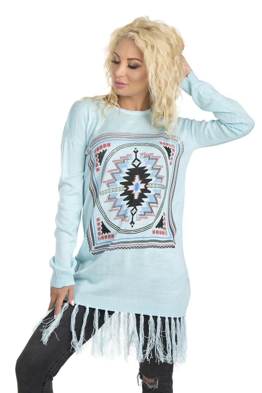 Этническая туника-платье (в расцветках 44-46)