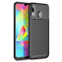 Чехол Carbon Case Samsung M205 Galaxy M20 Черный